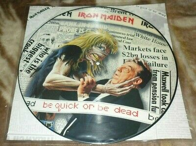 Iron Maiden Picture Disc Vinyl Be Quick or be dead  TOP
