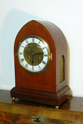 Antique Table Clock Bracket Clock German Clock Vintage Shelf Mantel