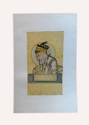 Old Mughal Emperor Hand Painted Indian Collectible Miniature Painting. i55-30 US