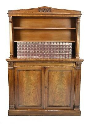 Stunning William Iv Mahogany Bookcase Circa 1830 / Antique Country House