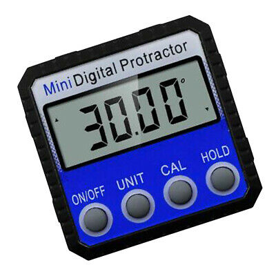 Mini Digital Angle Finder Protractor Magnetic Level Inclinometer Box Blue