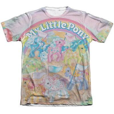 My Little Pony CLASSIC PONIES Adult Front Only Print Poly Cotton T-Shirt S-3XL