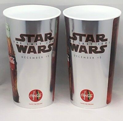 Star Wars:The Last Jedi Movie Theater EXCLUSIVE 44 oz Plastic Cup  Lot of 2