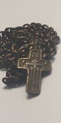 Genuine Religious Antique Medieval Viking Era Cross Pendant Necklace Castle Box