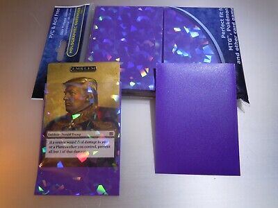 NEW Professional Hologram Purple Card Protector Sleeves Precise Fit MTG Pokemon