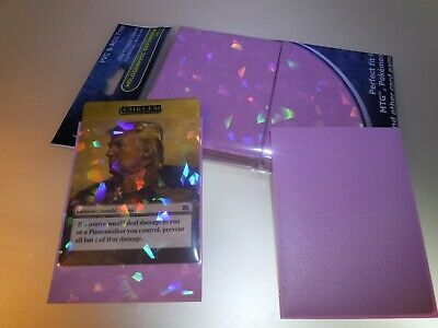 NEW Professional Hologram Pink Card Protector Sleeves Precise Fit MTG Pokemon