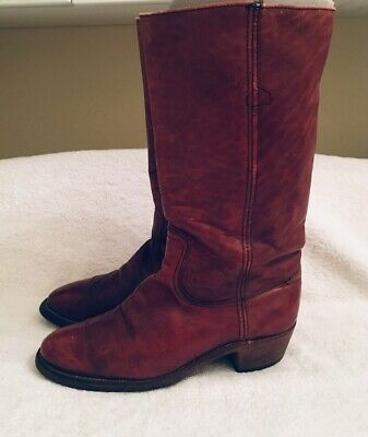 fa253d605c9 FRYE VINTAGE OXBLOOD Leather Western Cowboy Boots Size 9.5 D Made In ...