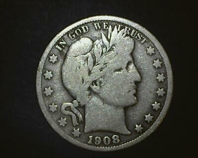 1908-O Barber Half-Dollar  Silver  Very Good    ~394296-Lb6Ra15