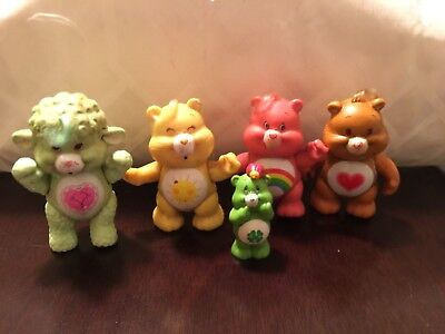 Vintage AGC Care Bears and cousin PVC poseable figures lot of 5
