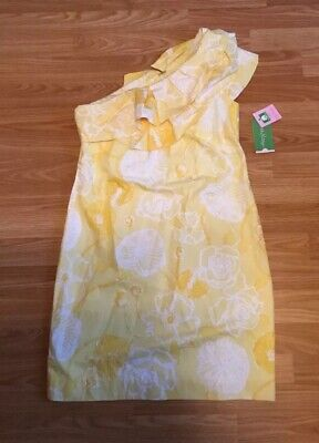 482a02ce5b855a New LILLY PULITZER Starfruit Yellow SANDRA One Shoulder Dress MSRP  198  ~Size 2
