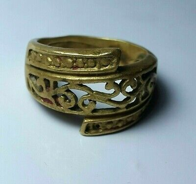 EXTREMELY RARE Ancient ring VIKING BRONZE VERY Stunning museum quality artifact