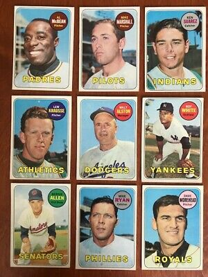 1969 TOPPS BASEBALL Pick your own Commons and Stars