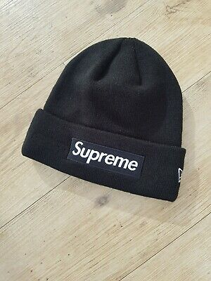 4d4671e3207 SUPREME - BOX Logo Beanie Black World Famous - £40.00
