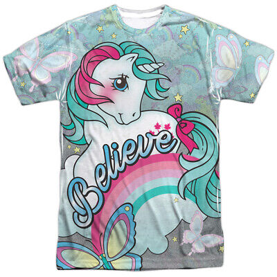My Little Pony BELIEVE IN DREAMS Front Only Print Polyester T-Shirt S-3XL