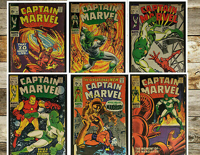 Lot of 6 Captain Marvel *Silver Age* See Pics & List *GD to FN* Condition