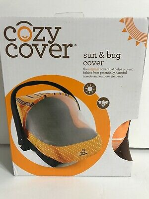 Cozy Cover Sun and Bug Cover Orange Multicolor New