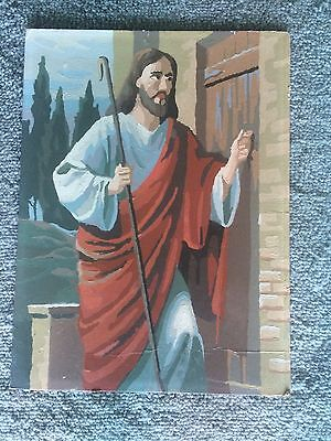 Vintage large paint by number of Jesus Christ