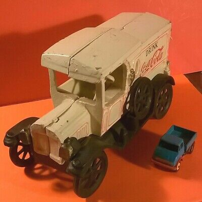 Vintage 1920s COKE Coca-Cola Cast Iron Delivery Truck 6 lbs *FREE Priority Ship*