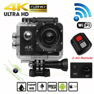 Ultra Full HD 1080P Waterproof Sports Camera Action DVR Camcorder GoPro Remote