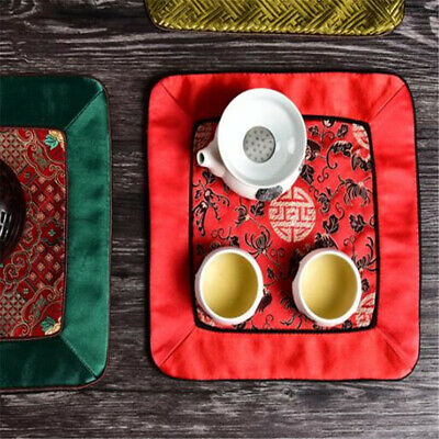 Patchwork Vintage Square Dining Table Mat Chinese style Insulation Pad SM