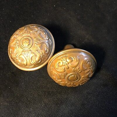 Nice Pair Of Sargent Brass Door Knobs Early 1900s