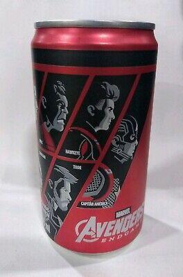 Marvel Avengers End Game 2019 Limited rare México mini Coca-Cola 235ml full Can