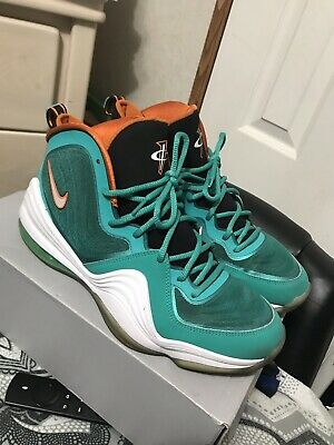 san francisco af946 147d9 Men s Nike Air Penny V Miami Dolphins Size 11 Green White Orange 537331-