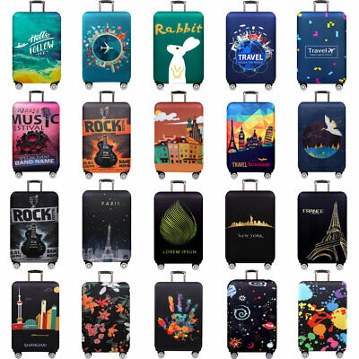 Travel Luggage Bag Protective Suitcases Elastic Anti Scratch Cover For 18-32Inch
