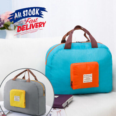 Foldable Travel Storage Bag Luggage Carry-on Clothes Organizer Tote Bag AU