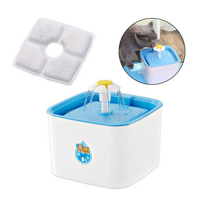 Pet Automatic Water Fountain Drinking Feeder Filter Dispenser Activated Carbon