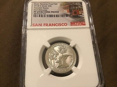 2018S Silver 25C Pictured Rocks Reverse 50Th Anniversary Ngc Pf69 First Releases