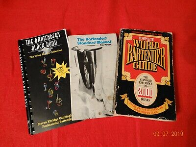 The Bartenders Drink Recipe Guide Manual Standard Black Book Lot 3