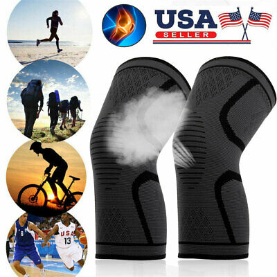 2pcs Knee Sleeve Compression Brace Support Sport Joint Pain Arthritis Relief USA