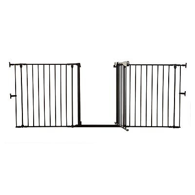 Dreambaby Baby / Child Safety Newport 3 Panel Adapta Gate / Fire Guard - Black