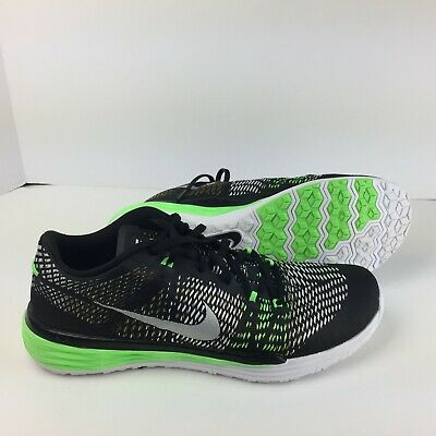 sports shoes 49275 ff3d9 Nike Lunar Trainer 1 Black 803879-013 Performance Running Training Shoes Sz  11.5