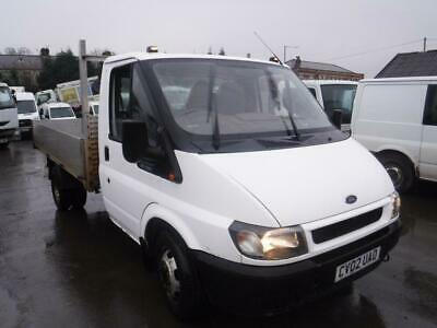 FORD TRANSIT DROPSIDE  350 DROPSIDE TRUCK White Auto Diesel, 2002
