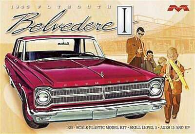 1965 Plymouth Belvedere -- Plastic Model Car Kit -- 1/25 Scale -- 854006005428