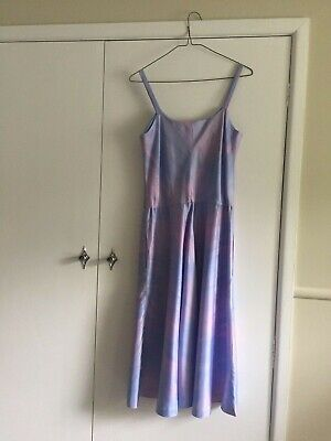 Blue and pink vintage summer evening dress with bolero jacket