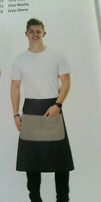 Bulk Pack - 3 × Cafe Series Waist Grey-Champagne Aprons - Free Shipping