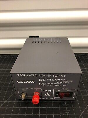 CSI/SPECO REGULATED POWER Supply Model PSR-4 Gray