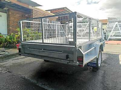 8x5 Hot Dip Galvanised Fully Welded Tipper Box Trailer With 600mm Removable Cage