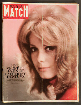 'paris-Match' French Vintage Magazine Catherine Deneuve Cover 23 May 1963