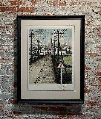 Bernard Buffet - French Street -Original 1961 Artist Proof Lithograph