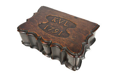 18th century antique carved Oak Box