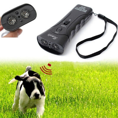 Dog Chaser Stop Ultrasonic Aggressive Animal Attacks Repeller Flashlight