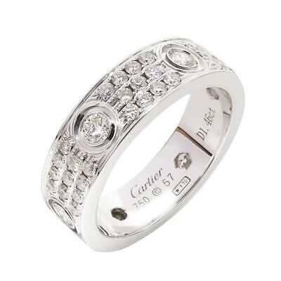 1d3a445125d71 CARTIER LOVE RING Pave White Gold Size 62 6 Diamond (US 10 ...