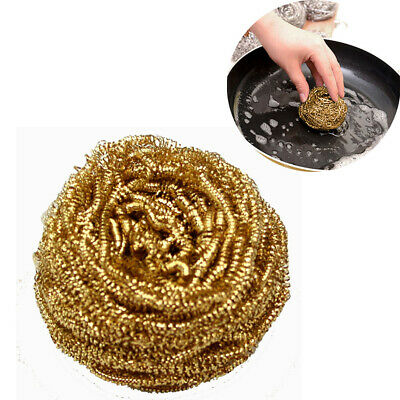 Brass Soldering Solder Iron Tip Cleaner Clean Copper Wire Sponge Ball 5Pcs/set