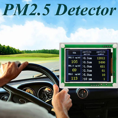 "Portable 2.8""LCD Digital Car PM2.5 Detector Tester Meter Air Quality AQI Monitor"