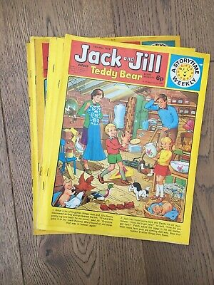 Vintage Jack And Jill Comics 1974 6 copies Very good condition.