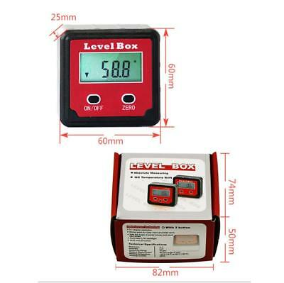 Digital Inclinometer Spirit Level Box Angle Finder for Gradiometer Meter Bevel